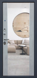 Стальная дверь «ДУЭТ Б с зеркалом»