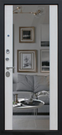 Стальная дверь «ДУЭТ с зеркалом»