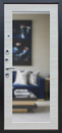 Стальная дверь «Next 1» с зеркалом