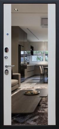 Стальная дверь «Вектор с зеркалом»